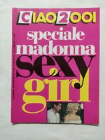 RARE CIAO 2001 N. 32 1987 SPECIALE MADOONA SEXY GIRL