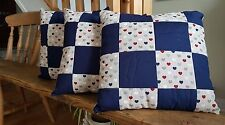 Quilted Cushion, Hearts Patch