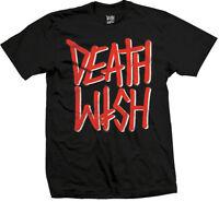 DEATHWISH SKATEBOARDS DEATHSTACK RED BLACK T-SHIRT S M L XL NEW - SKATE BAKER