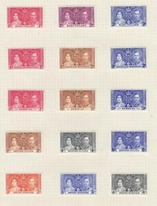 BASUTOLAND-BR.HONDURAS COMMONWEALTH MIX(MK7114) VF-MH 1937 KGVI CORONATION ISSUE