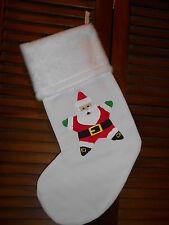 Santa Star Handmade Embroidered Christmas Stocking * Free Ship