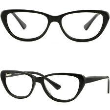 Damen Schmetterling Vollrandbrille Kunststoff Rahmen Fassung Federbügel Schwarz
