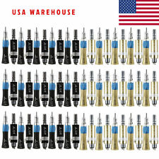 60pcs Dental Low Speed Handpieces Straight Nosecone & Air Motor Color fit NSK P4