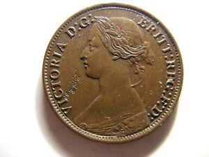 New Brunswick 1861 1/2 Penny, KM#5, XF+/AU - VERY SCARCE ISSUE