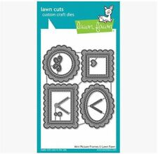 Lawn Fawn Cutting Die Set ~ MINI PICTURE FRAMES  Focal Point, Stitched ~1623