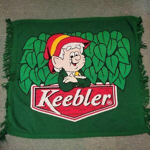 "Vtg Keebler Elf Blanket Throw Promo Ad 56 x 63"" Acrylic Knit Green -Rare"