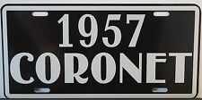 1957 CORONET METAL LICENSE PLATE DODGE LANCER RED RAM HEMI CONVERTIBLE WAGON