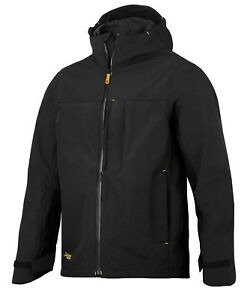 SNICKERS 1303 ALLROUNDWORK WATERPROOF SHELL JACKET. 0400 BLACK. VARIOUS SIZES