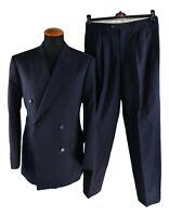Chester Barrie Saville Row Herren Anzug Doppelreiher Gr 48 W31 L30 gestreift y18