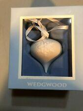 Wedgwood Christmas Tree Ornament Teardrop Bulb Shaped w/ Snowflake Design - Nib
