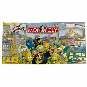 The Simpsons Monopoly Game - 2001 - Complete - EUC - Bart Homer Marge Lisa