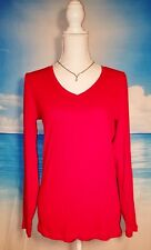 JCP Womans VALENTINES DAY Casual TUNIC Shirt Juniors RED Top size Lg