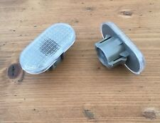 Renault CLIO MK2 172 182 SPORT Side Repeater Indicator Light CLEAR Lenses x 2