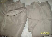 Namebrand QUEEN Sz Gray Brown Flat Sheet & 2 Matching Pillowcases Set-NEW
