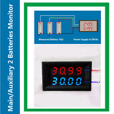 Dual Battery Monitor Volt Meter 200V for Redarc ARB CTek Projecta RV Auto Car