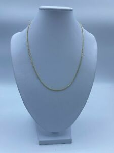 """9ct Gold Fancy Chain Necklace For Women - 17"""", 1mm, 4g"""