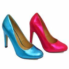 Zapatos de tacón de mujer azules sin marca