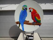 Kathrein SAT Schüssel CAS 120 mit Papageien Airbrush