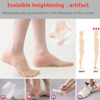 1 Pair Women Men Invisible Height Lifting Foot Pads Socks Heel Increase Insoles