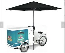 Classic Mobile Ice Cream Bike & Freezer:  Self-Sufficient, Battery Powered