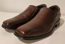 Dockers Shoes Size 11.5 Franchise Bicycle Toe Leather Loafer 90‑27227 Brown Euc