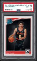 2018 Panini Donruss Optic #198 TRAE YOUNG RC Atlanta Hawks PSA 10 GEM MINT