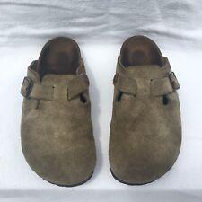 Birkenstock Boston Womens Size 38 NARROW Clog Nubuck Suede Mule Shoes