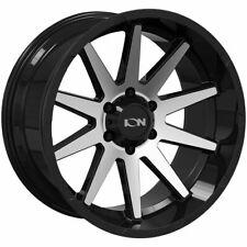 20x10 Ion 143 6x556x1397 19 Black Machined Wheels Rims Set4 106