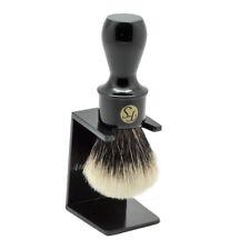 FS DensityFinest Badger Hair Shaving Brush w/ Black Extra Long Handle 24mm knot