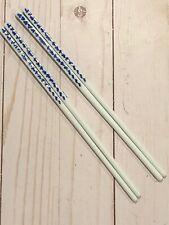 2 pair Blue and White Porcelain Asian Chopsticks Matching Pair