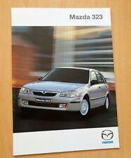 1260) Auto Prospekt Mazda 323 - von 02/2000 / 323 F 323 S 323F Sportive