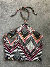 Missguided Tribal Print Crop Top Size 10