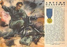 C4376) WW2 GRECIA M.O. ARTURO GALLUPPO DA BOLOGNA CAMICIE NERE D'ASSALTO.