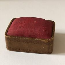 Antique Victorian Red Silk Topped Pin Cushion