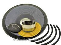 """SS Audio Speaker Repair Recone Kit for JBL 2226G 15"""" Subwoofer Bass Woofer 4 Ohm"""