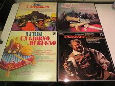 4 Boxen VERDI Falstaff I MASNADIERI Il CorasaroUN GIORNO DI REGNO Philips 11 LP