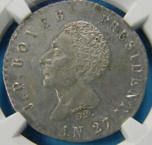 Haiti 1830 100 Centimes Au details  NGC An27  KM# A23 Rare Coin