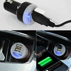2-Port Universal Dual USB Car Charger Adapter Bullet 5V 2.1A+1A For Smart Phone