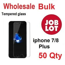 50X Wholesale Job Lot bulk Tempered Glass Screen Protector for iphone 7/8 Plus