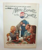 "Vintage 1950's Life Magazine Print Advertising PEPSI ""More Bounce to the Ounce"""