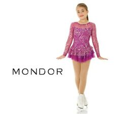 MONDOR Sparkly Figure Skating Competition Dress NEW Hibiscus Adult Large