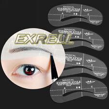 Stencil per Sopracciglia Kit Definizione 4 Forme Cura Sopracciglio Trucco Makeup
