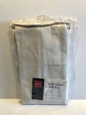 """Nwt - Hold Everything Heavy Cotton Canvas Suit Jacket Garment Bag - 22"""" x 40"""""""