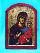 Ikone Madonna mit Kind Icon Griechenland 20. Jh.