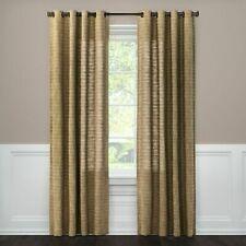 """1 Threshold Brown Textured Weave Grommet Top Window Panel 108"""" x 54"""""""