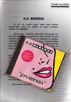 "KU MINERVA ""PROMESAS"" RARE CD + PRESS DOSSIER/ STEPHANELLI - POSADA - EURODANCE"