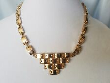 CC Skye Geometrical Yellow Gold Plated Statement Necklace
