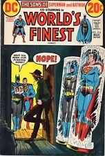 WORLD'S FINEST SUPERMAN BATMAN #216 Super Sons 1973