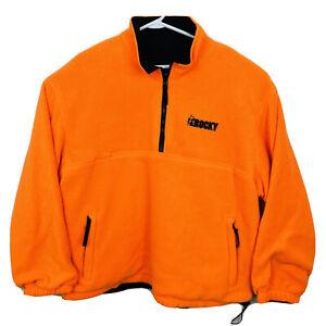 ROCKY ProHunter Blaze Orange 1/4 Zip Fleece Pullover Reversible Mens Sz 2XL EUC