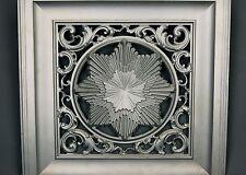 Aesthetic Movement Victorian Architectural Iron Fireplace Cover Insert Sunburst